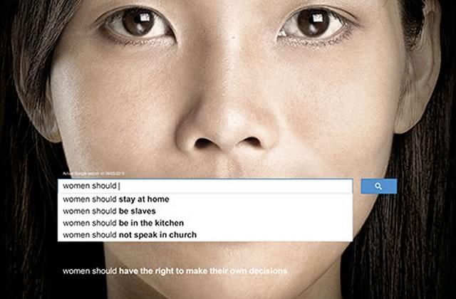 L'ONU dénonce le sexisme via des suggestions Google