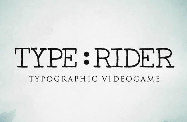 Type:Rider, l'histoire de la typographie à travers un jeu mobile