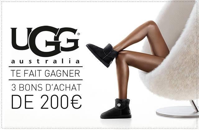 Concours UGG — 3 bons d'achat de 200€ à gagner!