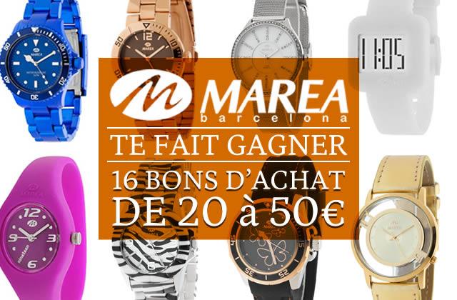 Concours Marea Montres — 500€ de bons d'achat à gagner !