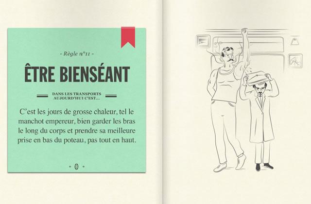 Le guide du savoir-vivre dans le métro, édition 2013