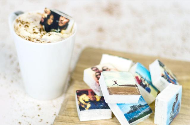 Des photos Instagram imprimées sur des chamallows — Idée cadeau cool