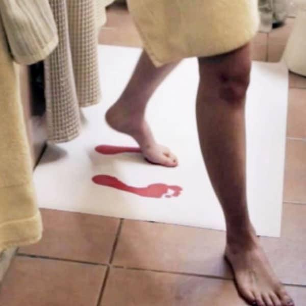 tapis de bain sang