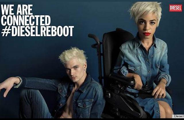 Diesel choisit une égérie en fauteuil roulant