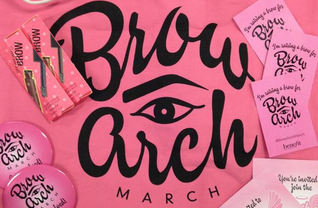 Avec Brow Arch March, Benefit s'engage contre le cancer du sein