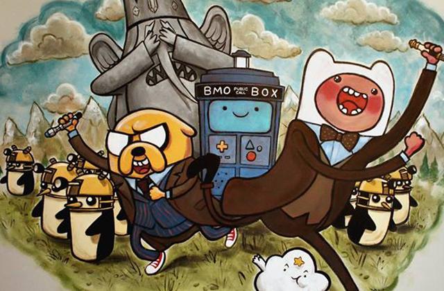 Adventure Timey-Wimey : la fresque d'un papa à sa fille