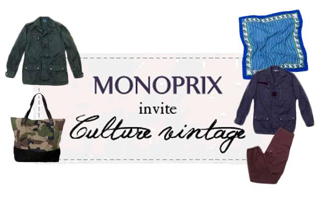 Monoprix lance sa première collection vintage