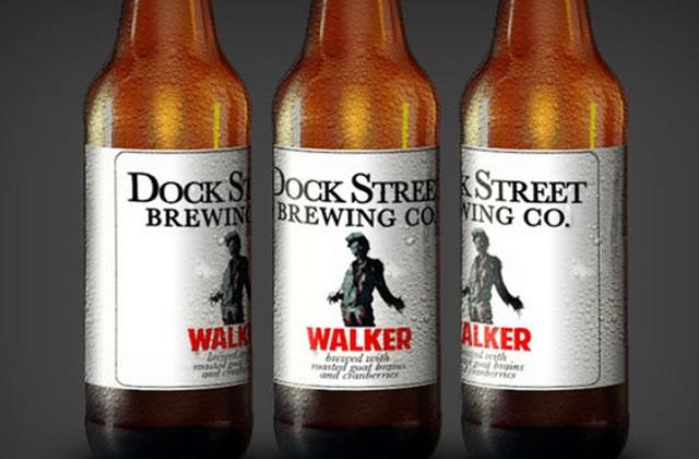Une bière Walking Dead avec des bouts de cerveau dedans !
