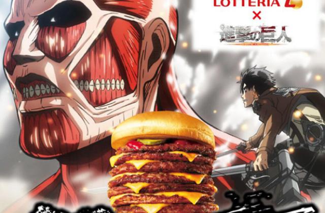 Des burgers «L'attaque des Titans» au Japon