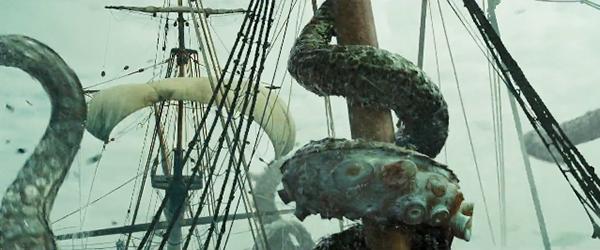 monstres marins kraken bateau