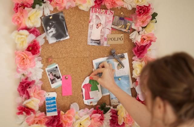 DIY — Un panneau en liège fleuri pour le printemps