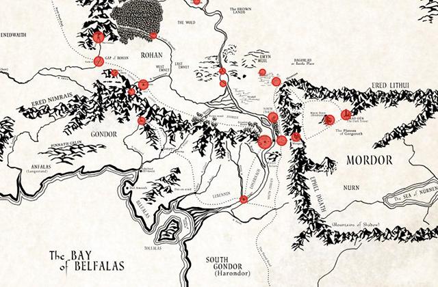Contemple la Terre du Milieu de Tolkien grâce à cette carte interactive !