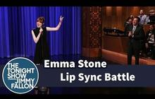 Emma Stone et Jimmy Fallon font du playback