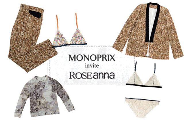roseanna cr e une collection capsule pour monoprix. Black Bedroom Furniture Sets. Home Design Ideas