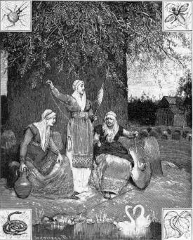 Nornes au pied Yggdrasil Hansen