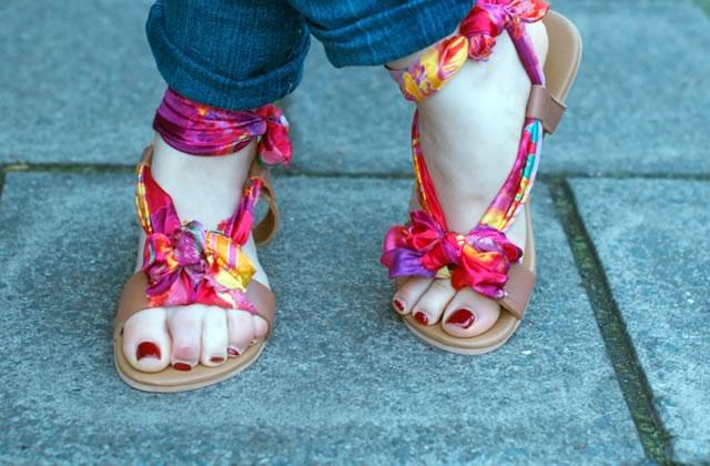 DIY — Des sandales-foulard pour l'été