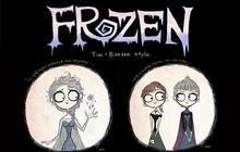 La Reine des Neiges (Frozen) façon Tim Burton