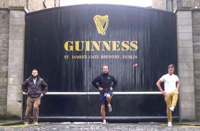La vidéo dansante du tour du monde de trois Irlandais