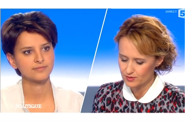 Najat Vallaud-Belkacem invitée de Caroline Roux dans C Politique