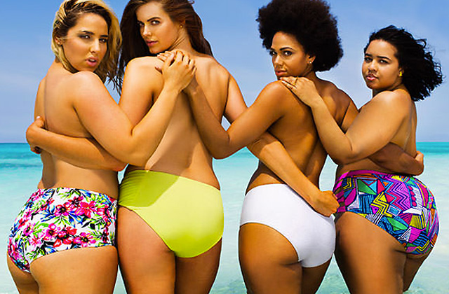 4 mannequins grandes tailles recréent la couverture de Sports Illustrated
