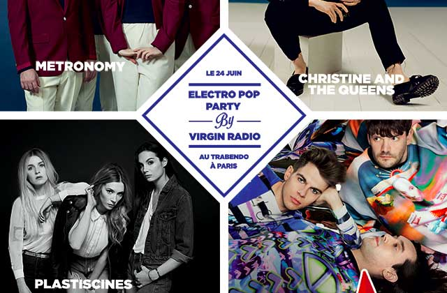 3×2 places à gagner pour l'Electro Pop Party de Virgin Radio !