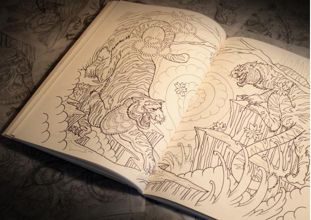 Un Cahier De Coloriage Special Tatouages