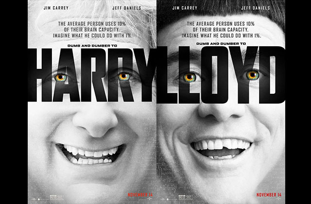 « Dumb and Dumber De » parodie l'affiche de « Lucy » de Luc Besson