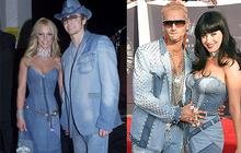 Katy Perry et Riff Raff habillés comme Britney Spears et Justin Timberlake aux VMA