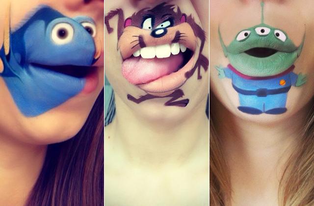Le Lip-Art, la tendance importable mais rigolote