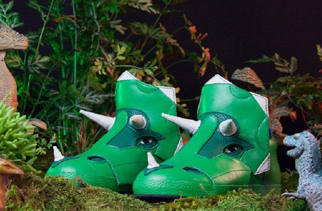 Les sneakers tricératops de Archaix Laboratories LLC.