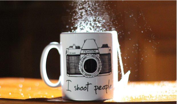 tasse thé appareil photo