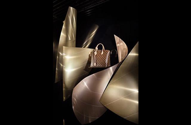 Les vitrines Louis Vuitton imaginées par l'architecte Frank Gehry