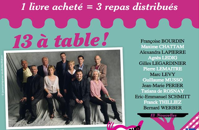 « 13 à table » : les auteurs français se bougent pour les Restos du Coeur
