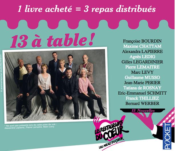 13 A Table Les Auteurs Francais Se Bougent Pour Les