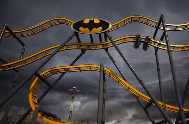 Le roller-coaster Batman, pour frôler la mort façon Gotham City