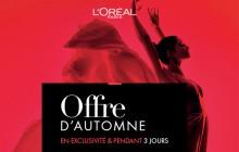 -30% sur l'e-shop de L'Oréal Paris pendant trois jours