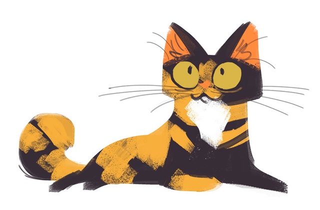 Daily Cat Drawings, des dessins de chat canons en deux coups de crayon