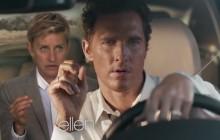 Ellen DeGeneres s'incruste dans une pub étrange avec Matthew McConaughey