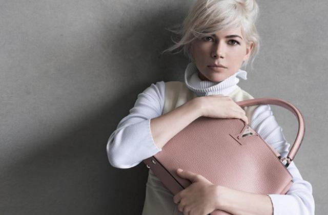 Michelle Williams devient égérie des sacs Louis Vuitton