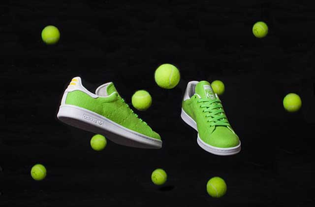 Les baskets en balle de tennis de Pharrell Williams pour Adidas — WTF Mode