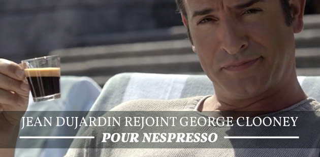 Jean Dujardin rejoint George Clooney pour Nespresso