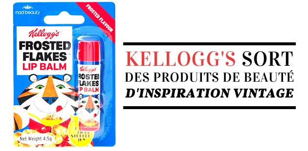 Kellogg's sort des produits de beauté d'inspiration vintage