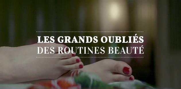 Les grands oubliés des routines beauté