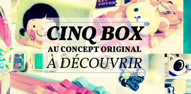 Cinq box originales à découvrir