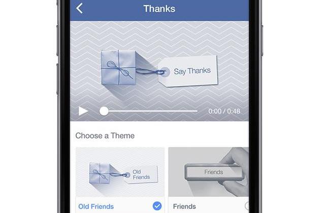 Facebook Thanks vous permet de remercier vos amis en vidéo
