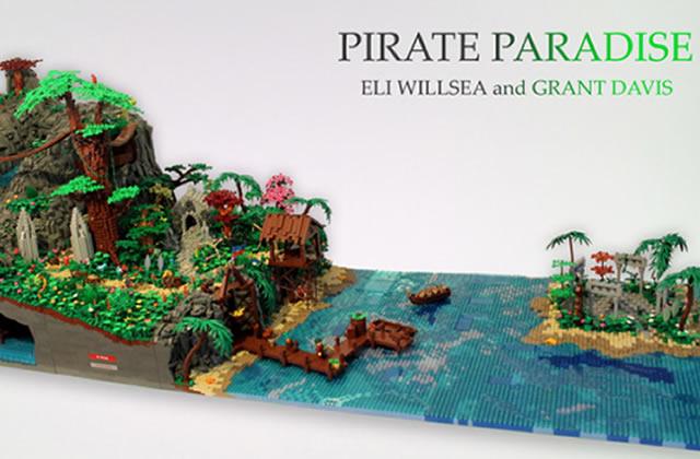 Une île de pirates entièrement construite en LEGO (avec cascade intégrée)