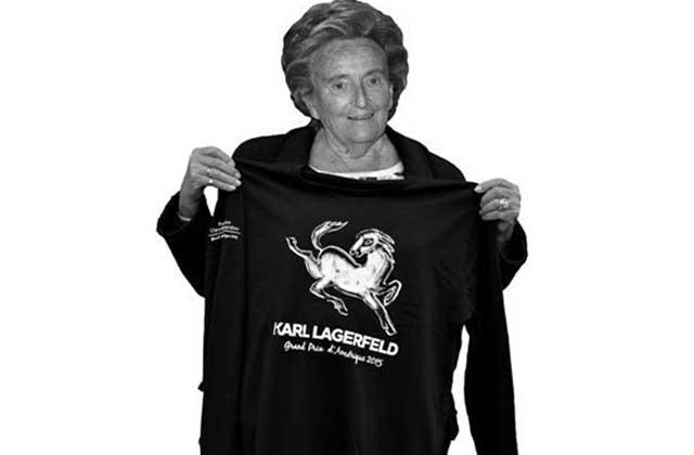 Karl Lagerfeld imagine un t-shirt pour lutter contre Alzheimer