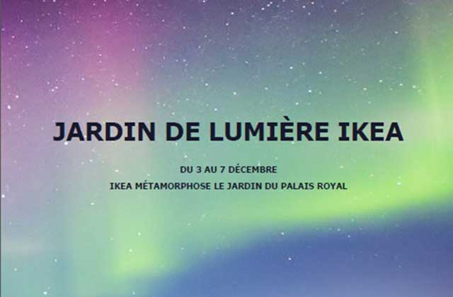 « Northern Lights », l'exposition organisée par Ikea au Jardin du Palais Royal