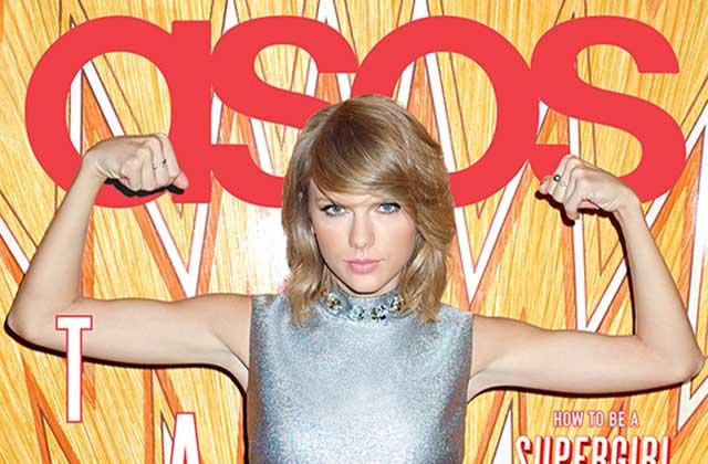 Taylor Swift en couverture du numéro de janvier 2015 du magazine Asos