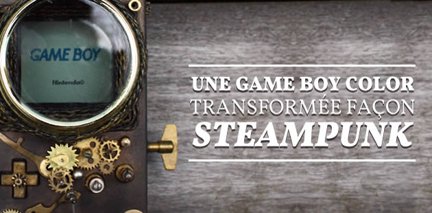 Une Game Boy Color transformée façon steampunk
